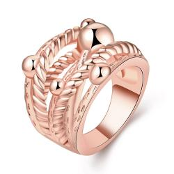 Vienna Jewelry Rose Gold Plated Spiral Wire Design Ring Size 8 - Thumbnail 0