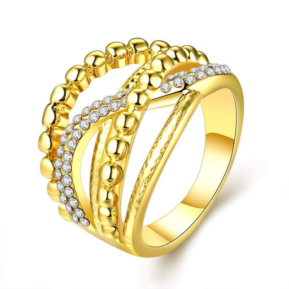 Vienna Jewelry Gold Plated Two-Lined Wire Ring Size 8