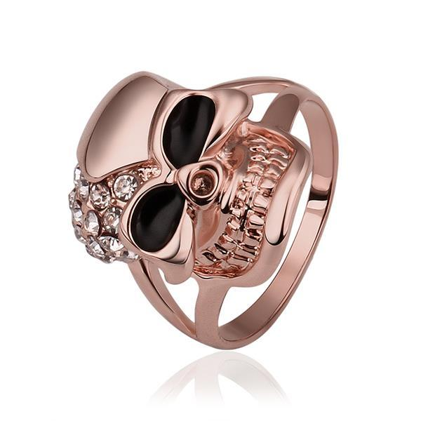 Vienna Jewelry Rose Gold Plated Skull Designer Inspired Ring Size 8