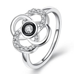 Vienna Jewelry White Gold Plated Circular Intertwined Cocktail Ring Size 8 - Thumbnail 0
