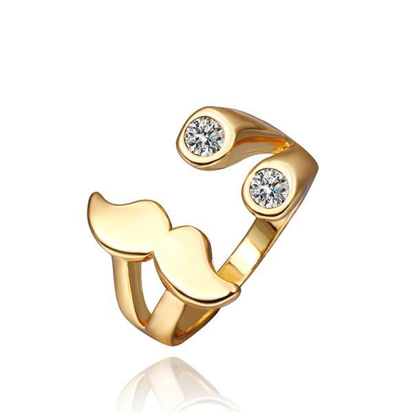 Vienna Jewelry Gold Plated Mustache Design Ring Size 8