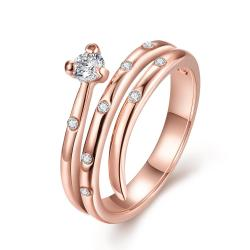 Vienna Jewelry Rose Gold Plated Circular Design Swirl Ring Size 7 - Thumbnail 0
