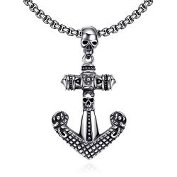Vienna Jewelry Anchor Stainless Steel Necklace - Thumbnail 0