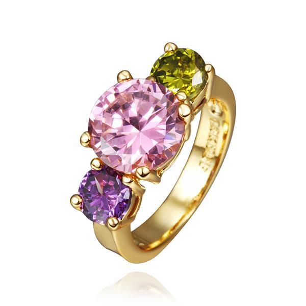 Vienna Jewelry Gold Plated Meadow Inspired Ring Size 8