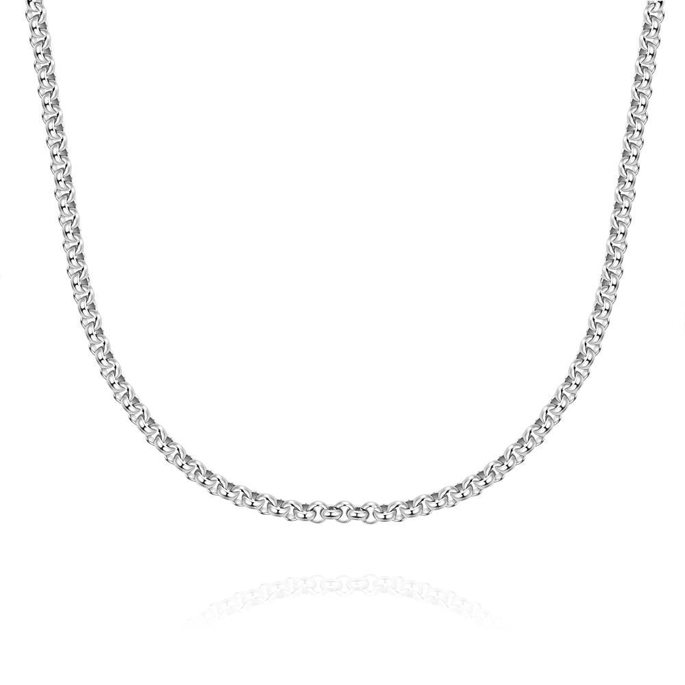 Vienna Jewelry Flat Marina Stainless Steel Chain 18 inches