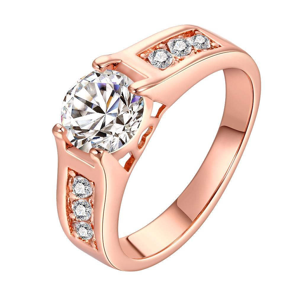 Vienna Jewelry Rose Gold Plated Classic Wedding Ring Size 8