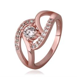 Vienna Jewelry Rose Gold Plated Muli-Knotted Jewel Ring Size 7 - Thumbnail 0
