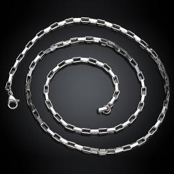 Vienna Jewelry Classic 5th Avenue Stainless Steel Chain 24 inches - Thumbnail 0