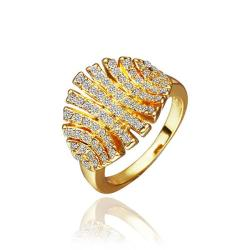 Vienna Jewelry Gold Plated Open Cut Leaf Branch Ring Size 8 - Thumbnail 0