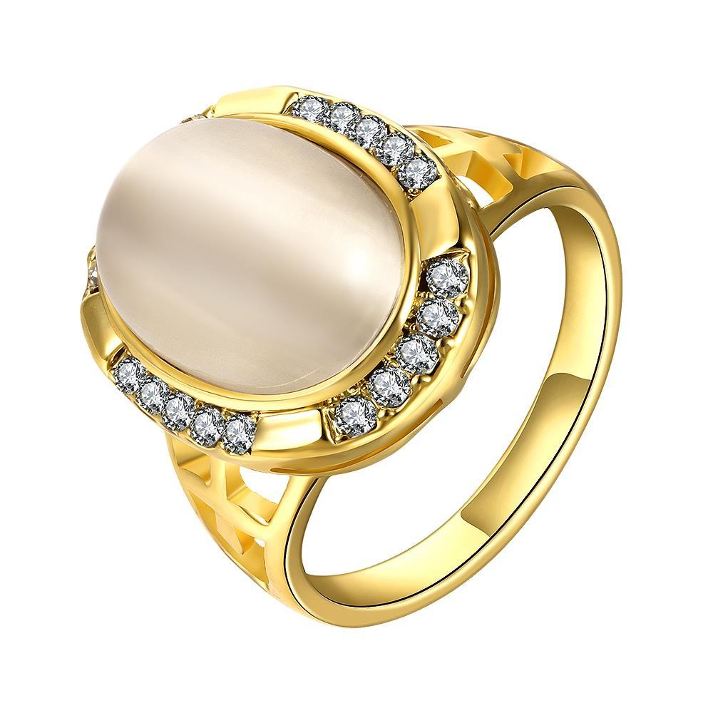 Vienna Jewelry Gold Plated Classical Onyx Centerpiece Ring Size 7