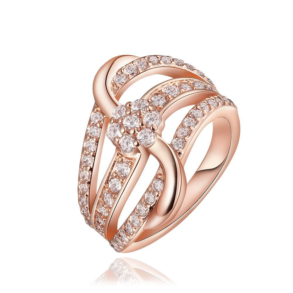 Vienna Jewelry Rose Gold Plated Super Swirl Desinger Inspired Ring Size 7