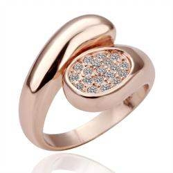 Vienna Jewelry Rose Gold Plated Abstract Closure Ring Size 8 - Thumbnail 0