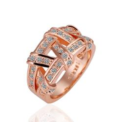 Vienna Jewelry Rose Gold Plated Abstract Tied Jewels Covering Ring Size 6 - Thumbnail 0