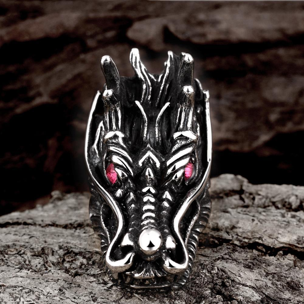 Vienna Jewelry The Dragon's Head Stainless Steel Ring