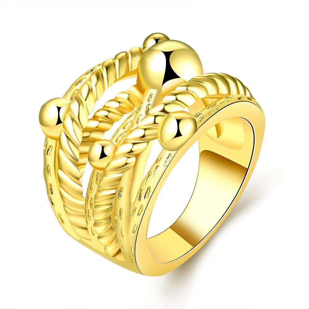 Vienna Jewelry Gold Plated Spiral Wire Design Ring Size 7