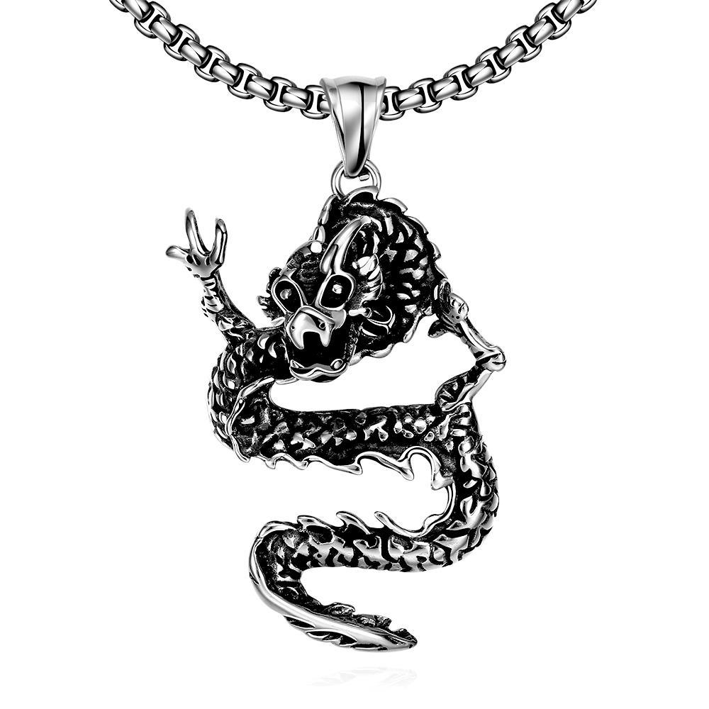 Vienna Jewelry Stainless Steel Dragon Necklace