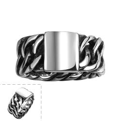 Vienna Jewelry Silver Plate Stainless Steel Ring - Thumbnail 0