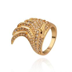 Vienna Jewelry Gold Plated Spiral Curved Classical Cocktail Ring Size 8 - Thumbnail 0