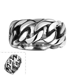 Vienna Jewelry Classic New York Stainless Steel Ring - Thumbnail 0