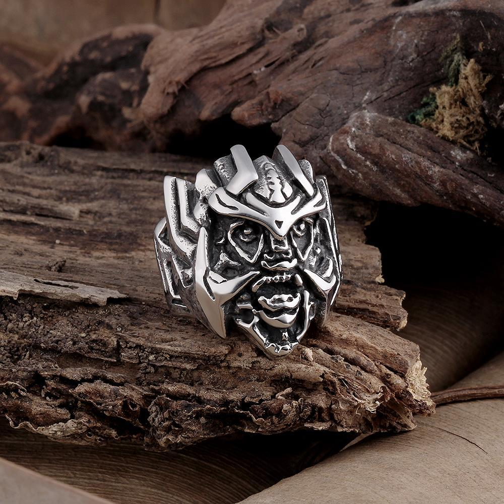 Vienna Jewelry Stainless Steel Abstract Creature Ring