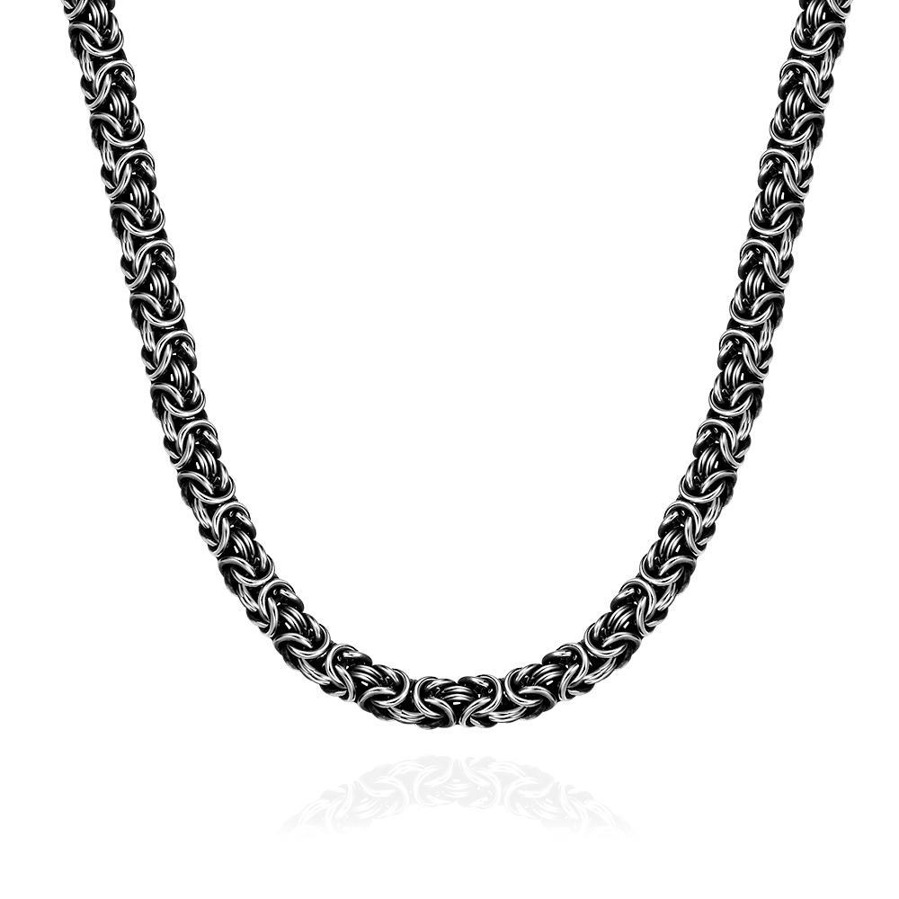 Vienna Jewelry Medieval Inspired Stainless Steel Necklace