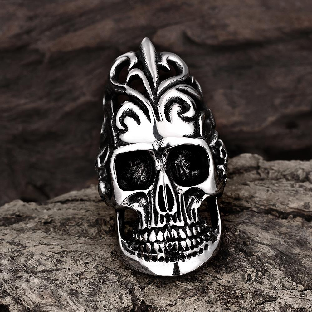 Vienna Jewelry The Burning Man Stainless Steel Ring