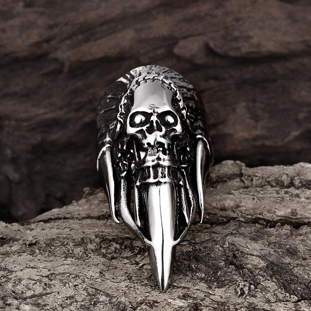 Vienna Jewelry Stainless Steel Skull Ring