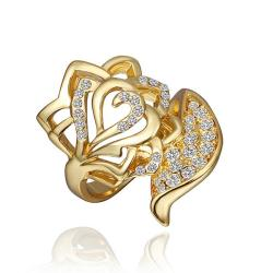 Vienna Jewelry Gold Plated Crystal Jewels Ring Size 8 - Thumbnail 0