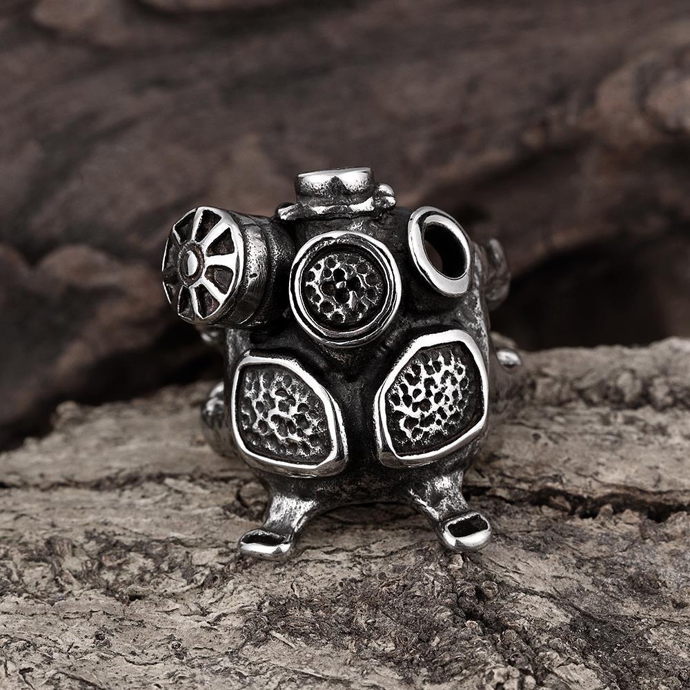 Vienna Jewelry Stainless Steel Mechanics Engine Ring