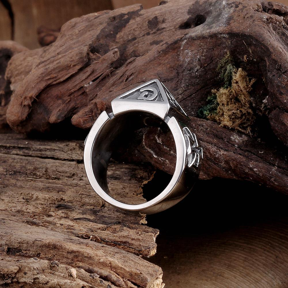 Vienna Jewelry Ancient Aarmaic Stainless Steel Ring
