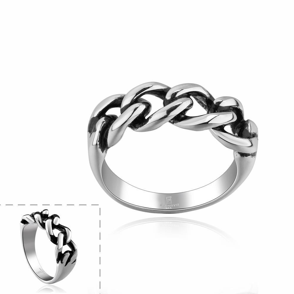 Vienna Jewelry Mini Chain Stainless Steel Ring