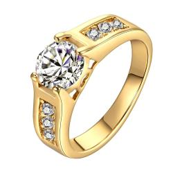 Vienna Jewelry Gold Plated Classic Wedding Ring Size 8 - Thumbnail 0