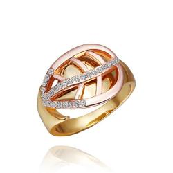 Vienna Jewelry Gold Plated Abstract Swirl Emblem Ring Size 8 - Thumbnail 0