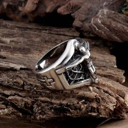 Vienna Jewelry Mini Skeleton Stainless Steel Ring - Thumbnail 0