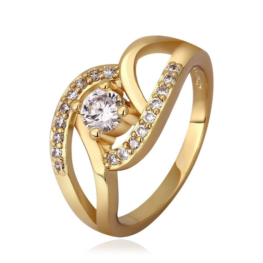 Vienna Jewelry Gold Plated Muli-Knotted Jewel Ring Size 7