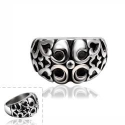 Vienna Jewelry Abstract Quads Design Stainless Steel Ring - Thumbnail 0