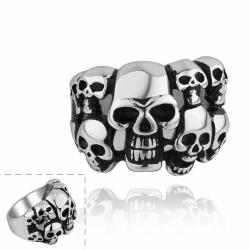 Vienna Jewelry Skull's Army Stainless Steel Ring - Thumbnail 0