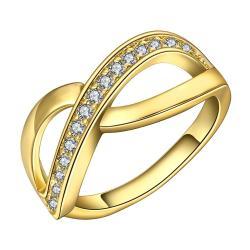 Vienna Jewelry Gold Plated Infinite Swirl Ring Size 7 - Thumbnail 0