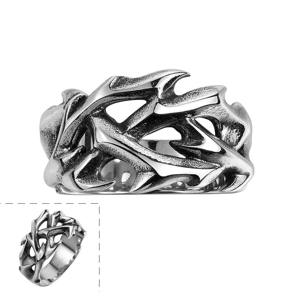 Vienna Jewelry Sword's Blade Stainless Steel Ring