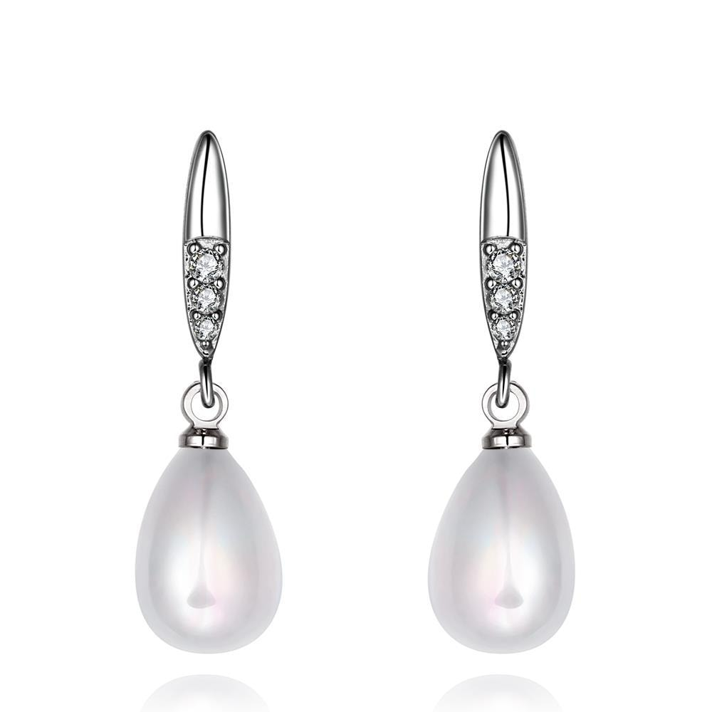 Vienna Jewelry Cultured Pearl Thin Lined Modern Classic Earrings