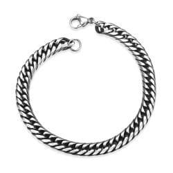 Vienna Jewelry Marina Chain Stainless Steel Bracelet - Thumbnail 0