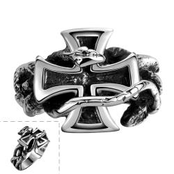 Vienna Jewelry Christ's Cross Stainless Steel Ring - Thumbnail 0
