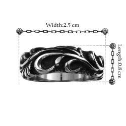 Vienna Jewelry Korean Inspired Stainless Steel Ring - Thumbnail 0