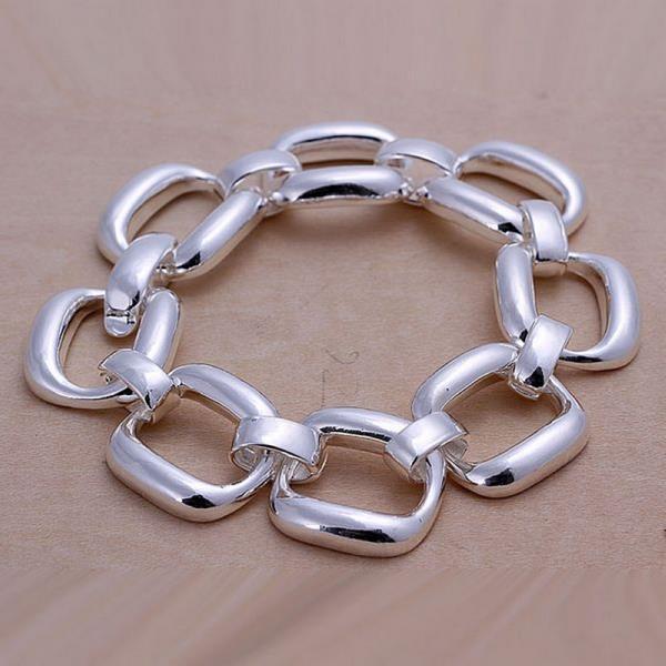 Vienna Jewelry Sterling Silver Multi-Chain Lock Bracelet