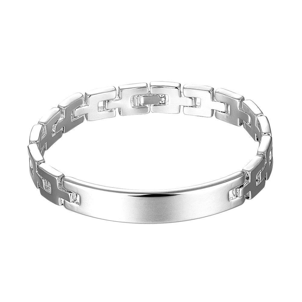 Vienna Jewelry Sterling Silver Modern Sleek Classic Bracelet