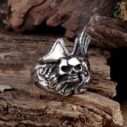 Vienna Jewelry Dead Cowboy Stainless Steel Ring - Thumbnail 0