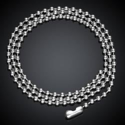 Vienna Jewelry Beaded Stainless Stainless Steel Chain 20 inches - Thumbnail 0