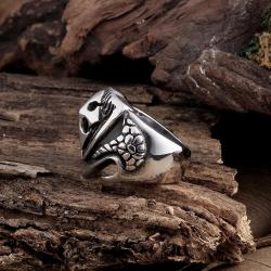 Vienna Jewelry Large Cross Stainless Steel Ring - Thumbnail 0