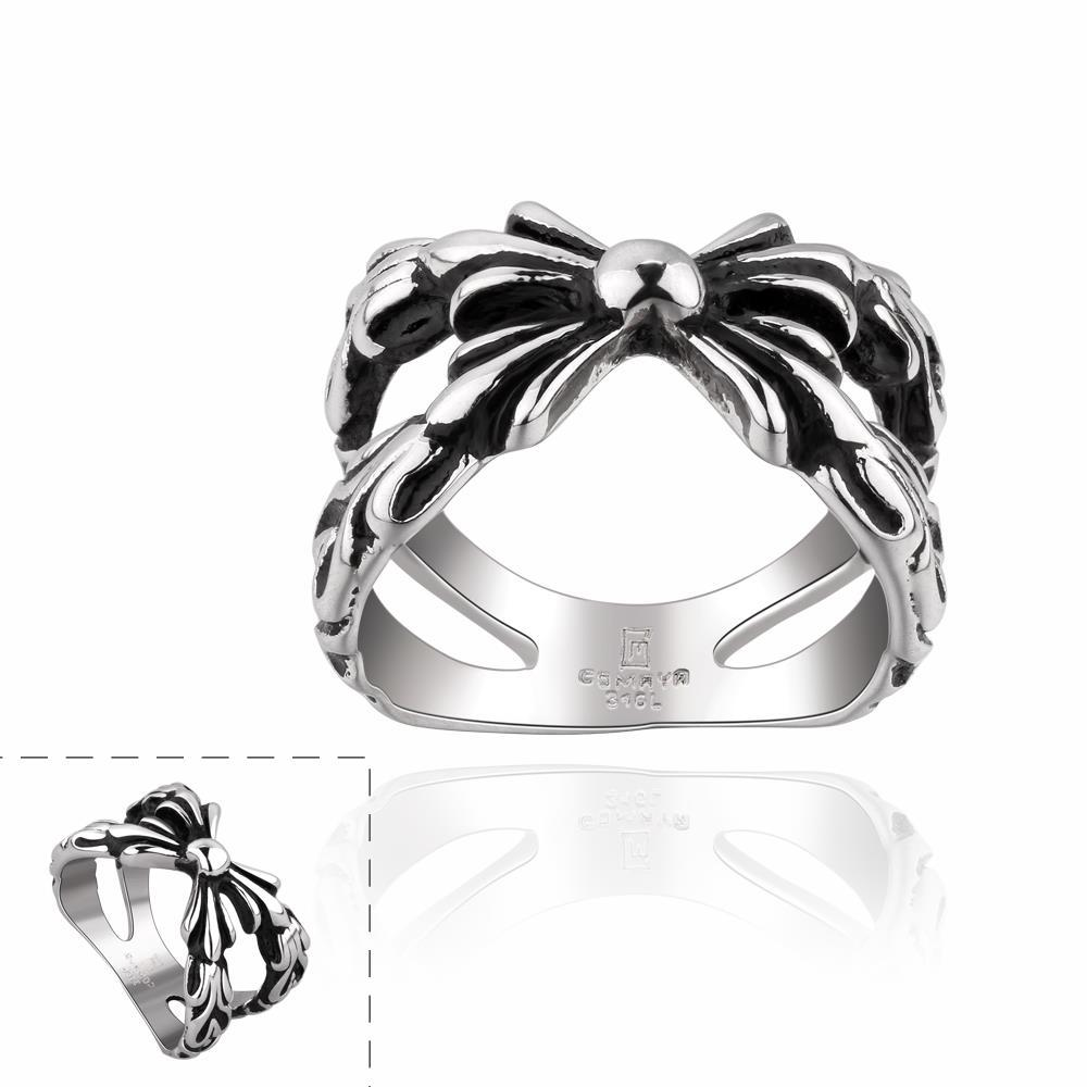 Vienna Jewelry Intertwined Knot Stainless Steel Ring