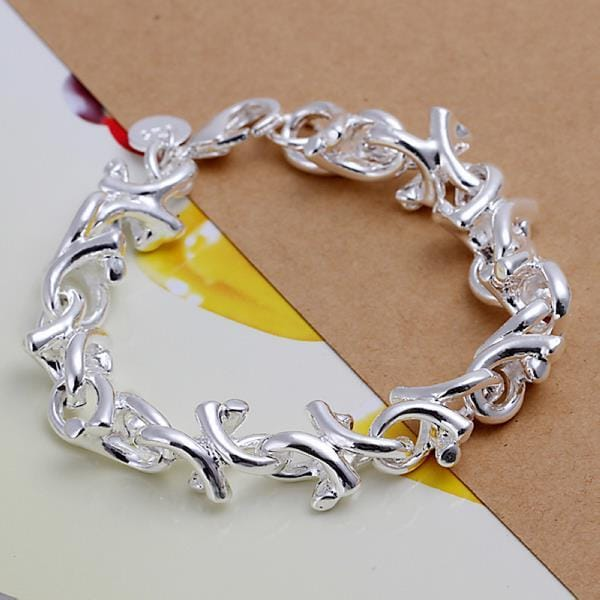 Vienna Jewelry Sterling Silver Starfish Surrounding Bracelet